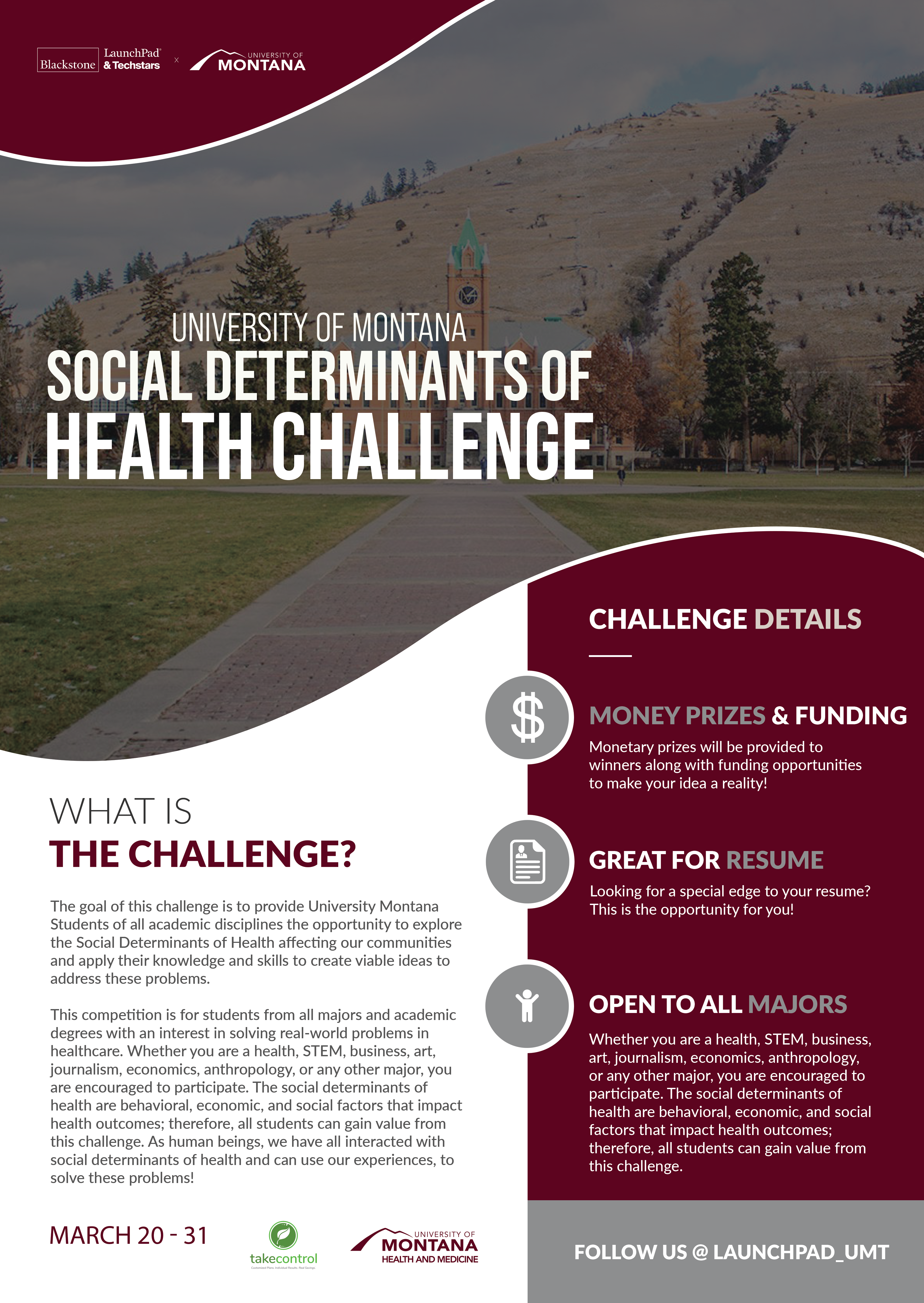 University of Montana Social Determinants of Health Challenge